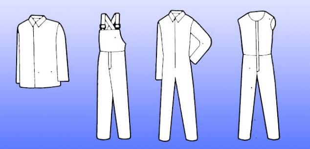 Видове облекло за защита от движещи се части