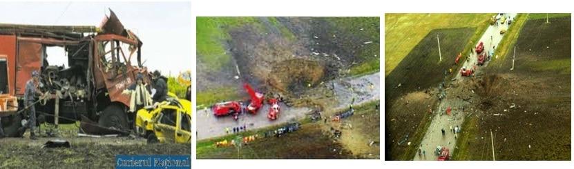 Пътния инцидент, пожар и експлозия на 22 тона амониев нитрат в Mihailesti, Румъния